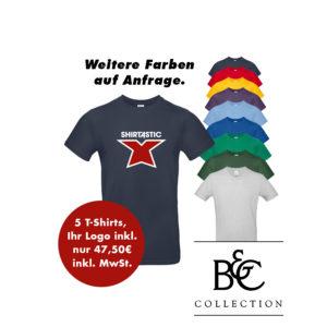 B&C T-Shirt 5er Paket